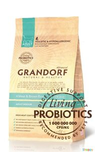 Grandorf Probiotic Indoor - 4 вида мяса с бурым рисом, для кошек. Вес: 2 кг