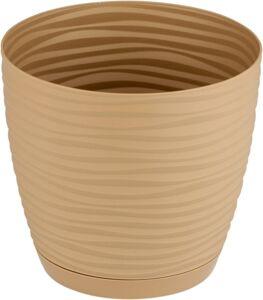 Кашпо Sahara petit с прикреп. подд. d13; h11,8 см; 1,00л кофе (cafe latte)