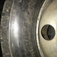Колеса в сборе грузовые бриджстоун 215/70R17.5 резина почти новая