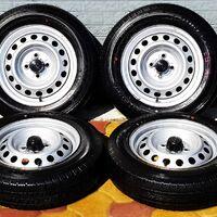 Комплект колёс в сборе! 155/80R14 Dunlop Enasave 2018 год выпуска!