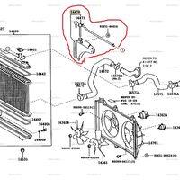 Расширительный  бачок  радиатора  охлаждения  двигателя.