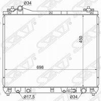 Радиатор охл. Suzuki escudo / grand vitara 05- v6 2.7l