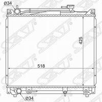 Радиатор охл. Suzuki escudo/grand vitara j20a/h20a/h25a 94-04