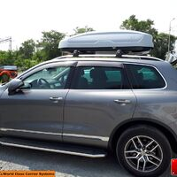 Брутальный автобокс lux tavr 175 серый матовый 450 л (175х85х40см)