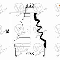 Пыльник ШРУСа внутренний FR HONDA HR-V 01-/STREAM 2,0 01-/CIVIC 1,6 00