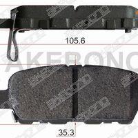 Колодки тормозные зад NISSAN J10 06-13 X-TRAIL T## 00- TIIDA C11 05-12