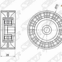 Обводной ролик приводного ремня SUZUKI GRAND VITARA II 2,4 05-