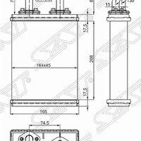 Радиатор отопителя салона NISSAN DIESEL CM87 88-93