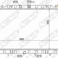 Радиатор NISSAN X-TRAIL MR20DE/QR25DE 07-/SERENA ##C26 10-16