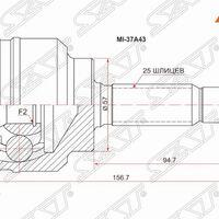 Шрус наружный MITSUBISHI LANCER CEDIA 4G15/CS2A/W/00- MIRAGE DINGO CQ1