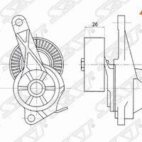 Натяжитель приводного ремня SUZUKI GRAND VITARA II 2,4 05-