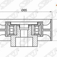 Обводной ролик приводного ремня CITROEN JUMPER/FIAT DUCATO/FORD TRANSI