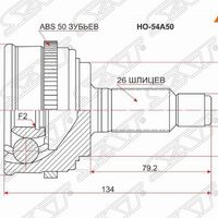 Шрус наружный HONDA CIVIC ES1/EU1 D15B 00- ABS