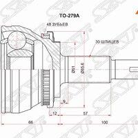 Шрус наружный LEXUS RX 350 08-/TOYOTA HIGHLANDER 40/45/48 4WD 07-13