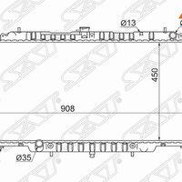 Радиатор NISSAN PATROL/SAFARI RD28/TD42/ZD30 98-10