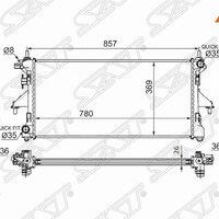 Радиатор FIAT DUCATO/PEUGEOT BOXER/CITROEN JUMPER 2.2TD/3.0 06-