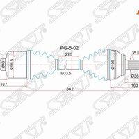 Привод в сборе FR LH PEUGEOT BOXER III 06-/CITROEN JUMPER III 06-/FIAT