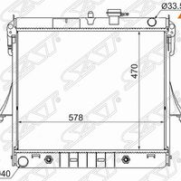 Радиатор HUMMER H3 06-