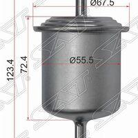 Фильтр топливный NISSAN AD/ALMERA/AVENIR/CARAVAN/CEDRIC/CEFIRO/CUBE/EL