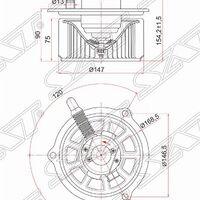 Мотор отопителя салона HINO DUTRO XZU4##   TOYOTA DYNA XZU4##\7##\6##