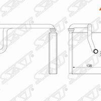 Радиатор отопителя салона HONDA FIT/JAZZ GD1-4 01-07 5D
