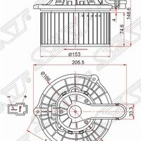 Мотор отопилеля салона HYUNDAI IX35/TUCSON 10-/KIA SPORTAGE 10-