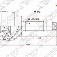 Шрус наружный MITSUBISHI GALANT/LEGNUM/MIRAGE/LANCER CK4A/CK6# 4G93/6A