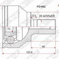 Шрус наружный FORD FOCUS II 1.4/1.6 04-08/FOCUS C-MAX 1.8 04-08 (-ABS)