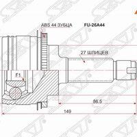 Шрус наружный SUBARU IMPREZA GF8 4WD 98- FORESTER SF9