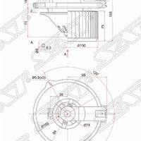 Мотор отопителя салона TOYOTA COROLLA RUNX/ALLEX/SPACIO#ZE12/PREMIO/AL