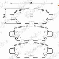 Колодки тормозные RR NISSAN J10 06-13 X-TRAIL T## 00- TIIDA C11 05-12
