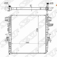 Радиатор NISSAN PATROL/INFINITI QX56 10-