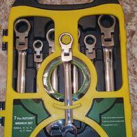 Набор ключей накидных с трещоткой в кейсе