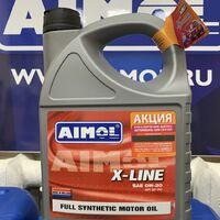 Синтетическое масло aimol (голландия) x-line 0w-20 ilsac gf-5 4l