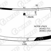 Стекло лобовое Toyota Probox / Succeed (NCP5*) XYG