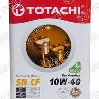 Масло моторное полусинтетическое TOTACHI Eco Gasoline 10W-40 SN/CF, A3