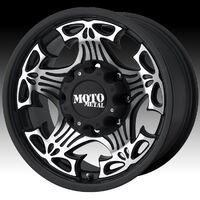 Литые диски moto metal series 909 skull glossy black b резина dunlop
