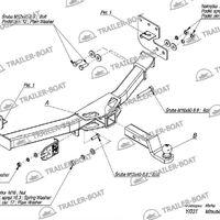 Фаркоп Mitsubishi Pajero Sport 2008-XX, под квадрат, 28582