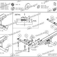 Фаркоп Subaru Forester 2007-2013, рама и крюк шар 50 мм, 27803