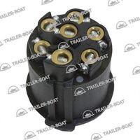 Вилка прицепа электрическая европейская 7-контактная алюминиевая 24V
