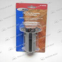 Вилка-адаптер для прицепа, 7 контактов/4 контакта, пластиковая, Draw-T