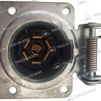 Штепсельная розетка 7 контактов, металл, 54-57-503