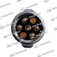 Вилка прицепа 7 контактная, алюминиевая, европейского типа 15068A-AL