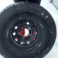 Продам колеса  шины+диски , диски уазовские .