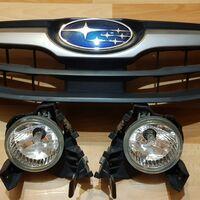 Решётка и туманки на Subaru impreza 2008-2011 GH3