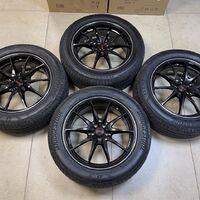Кованые диски RAYS 18/7,5/ET48 с резиной Bridgestone 235/55R18