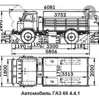 Борт грузовой газ 66