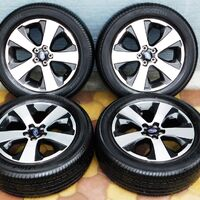 Комплект колёс на титановых дисках 225/55R17 Yokohama BluEarth
