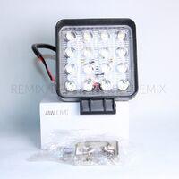 Светодиодная LED фара 48W (ближний дополнительный свет, квадратная )