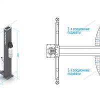 Подъемник двухстоечный, г/п 4т (380В)